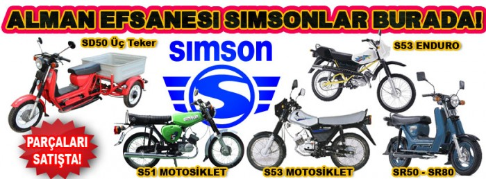 Simson motosiklet parçaları burada!