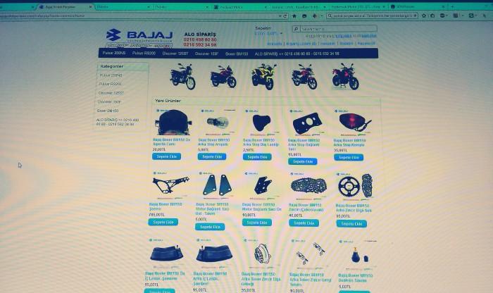 Bajaj yedek parçaları web sitesi