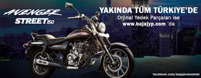 Bajaj Avenger Street 150 Cruiser Türkiye de